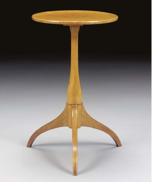 A SHAKER MAPLE CANDLESTAND