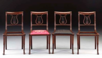 SET OF FOUR CLASSICAL CARVED M