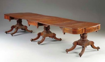 A FEDERAL CARVED MAHOGANY THRE