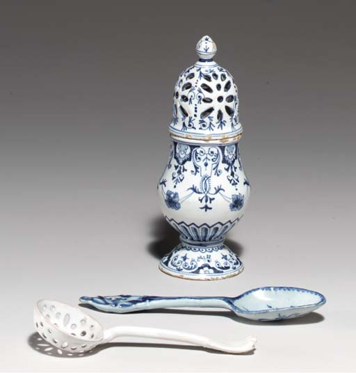 A FRENCH FAIENCE BLUE AND WHIT