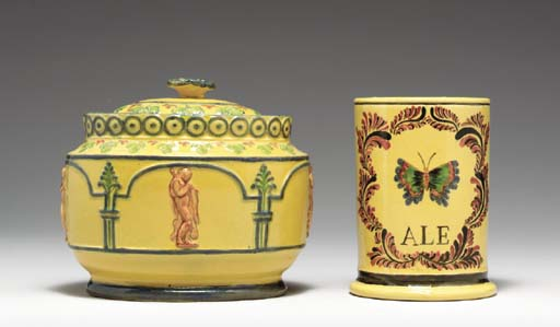 A STAFFORDSHIRE PEARLWARE LATE