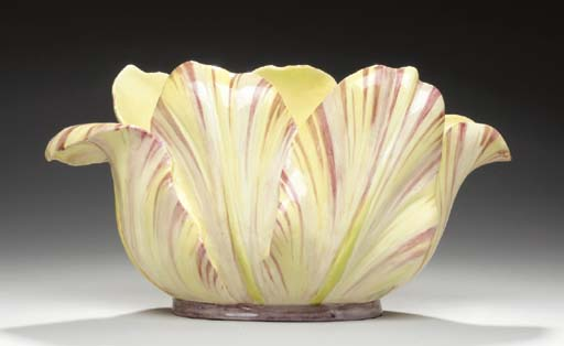 A FRENCH MAJOLICA TULIP-FORM C
