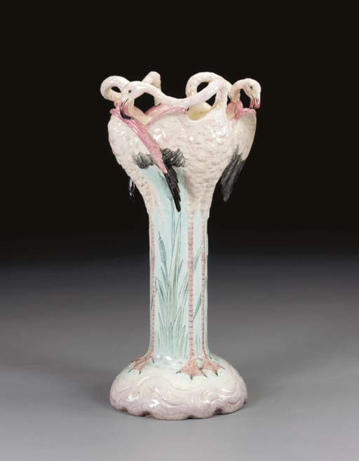 A LARGE FRENCH MAJOLICA FLAMIN