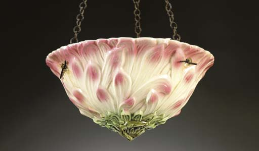 A FRENCH MAJOLICA FLORAL-FORM