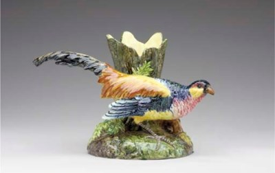 A FRENCH MAJOLICA ANIMALIER SP