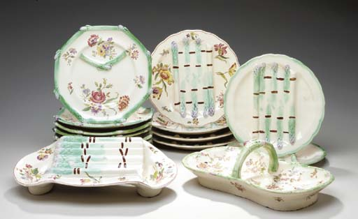 AN ASSEMBLED FRENCH MAJOLICA T