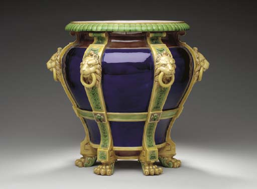 AN ENGLISH MAJOLICA COBALT-BLU