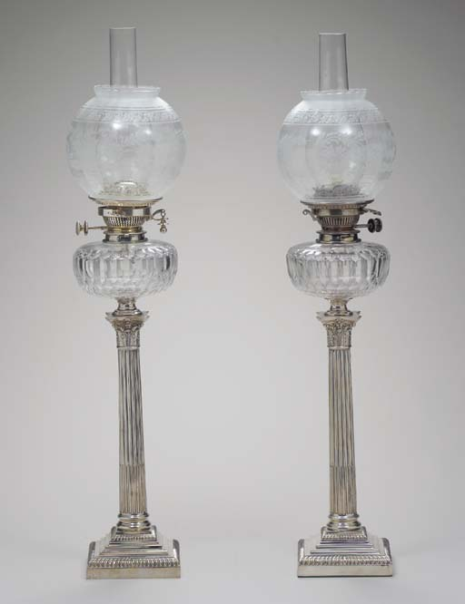 A PAIR OF GEORGE V SILVER AND