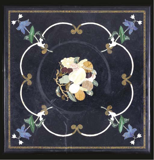 A SQUARE PIETRA DURE TABLE TOP