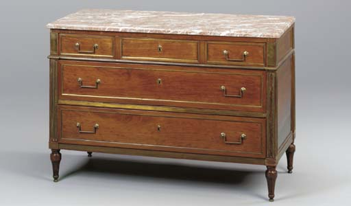 A DIRECTOIRE BRASS INLAID MAHO