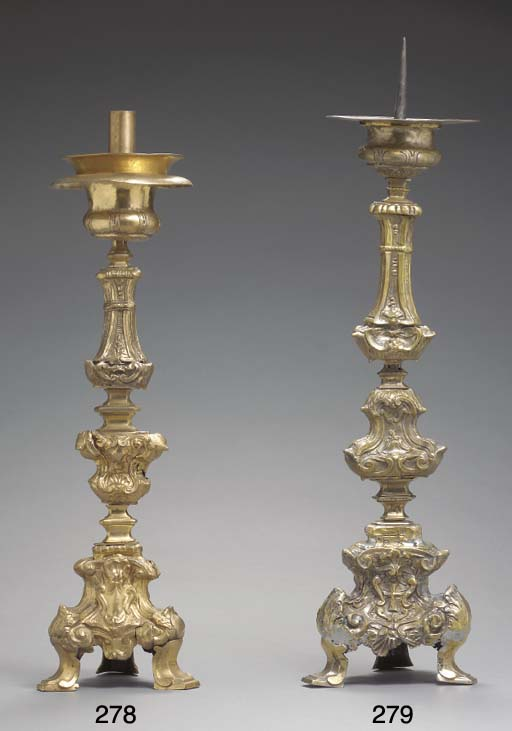 AN ITALIAN REPOUSSE GILT-METAL