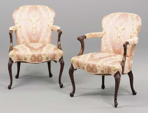 A SET OF FOUR GEORGE II STYLE