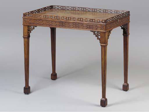 A GEORGE III STYLE SILVER TABL