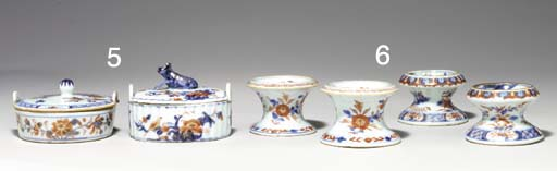 TWO CHINESE IMARI BUTTER TUBS