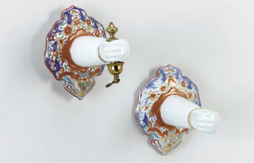 A PAIR OF WALL SCONCES
