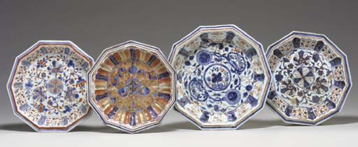 A GROUP OF FOUR FLUTED DECAGON