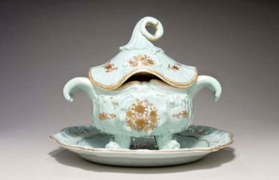 A LARGE ROCOCO TUREEN, COVER A