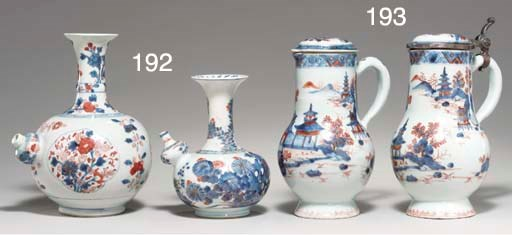 A PAIR OF CHINESE IMARI JUGS A