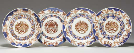 A SET OF FOUR CHINESE IMARI DU
