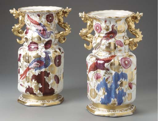 A PAIR OF ENGLISH IRONSTONE CL
