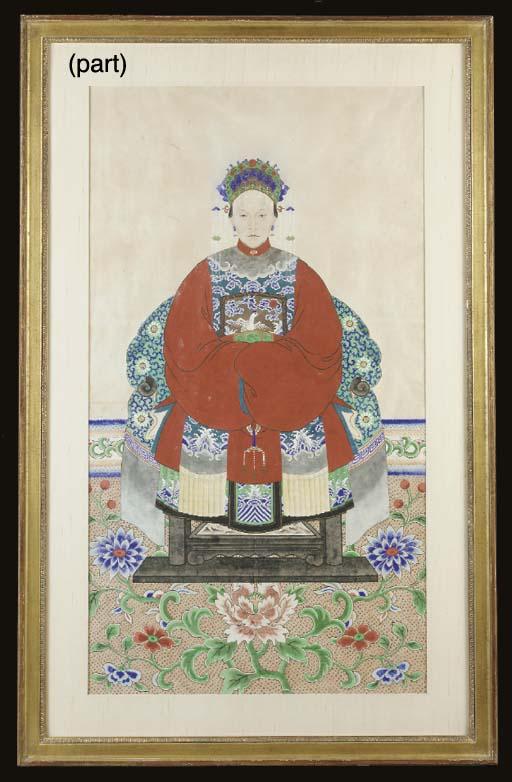 THREE CHINESE ANCESTOR PORTRAI