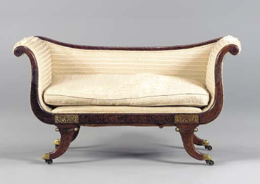 A REGENCY GRAINED ROSEWOOD AND