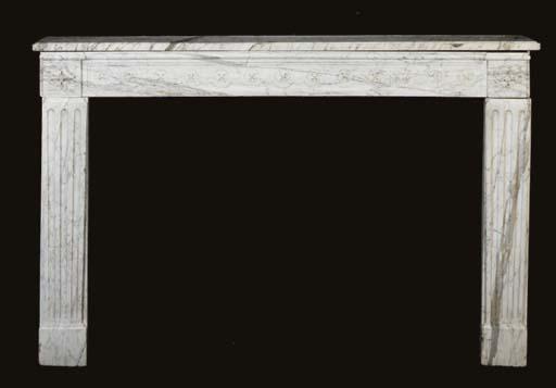A GEORGE III STYLE WHITE MARBL