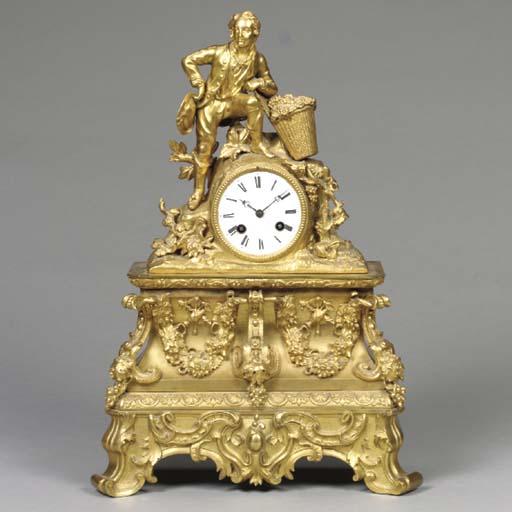 A LOUIS-PHILLIPE ORMOLU CLOCK,