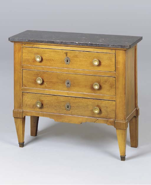 A CONTINENTAL FRUITWOOD COMMOD