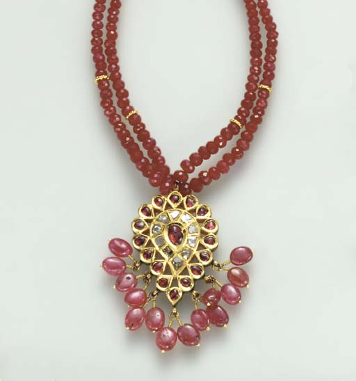 AN INDIAN RUBY, DIAMOND, POLYC