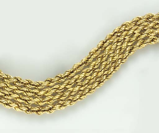FOUR 18K GOLD CHAINS