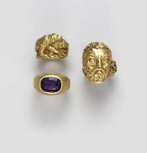 **A GROUP OF GOLD AND GEM-SET AND SIMULATED GEM-SET JEWELRY
