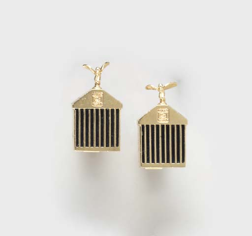A PAIR OF 14K GOLD