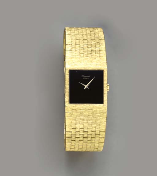 TWO 18K GOLD WRISTWATCHES