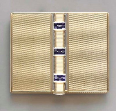 A RETRO 14K GOLD, SAPPHIRE AND