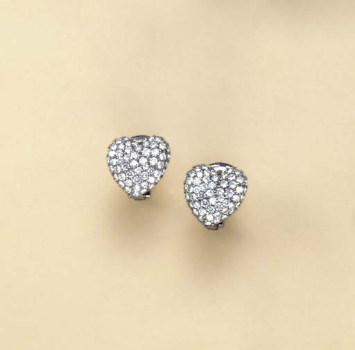 A PAIR OF DIAMOND AND OXIDIZED