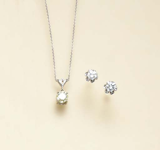 A GROUP OF DIAMOND AND WHITE G