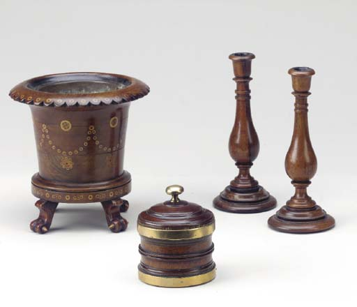 A GROUP OF TREEN TABLE ARTICLE