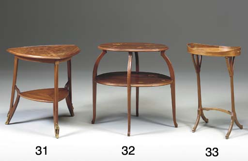 A MARQUETRY TWO-TIER OCCASIONA