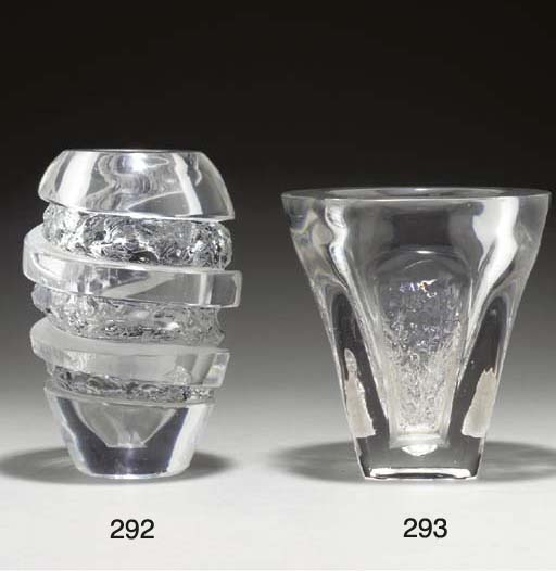 AN ACID ETCHED AND CUT GLASS V