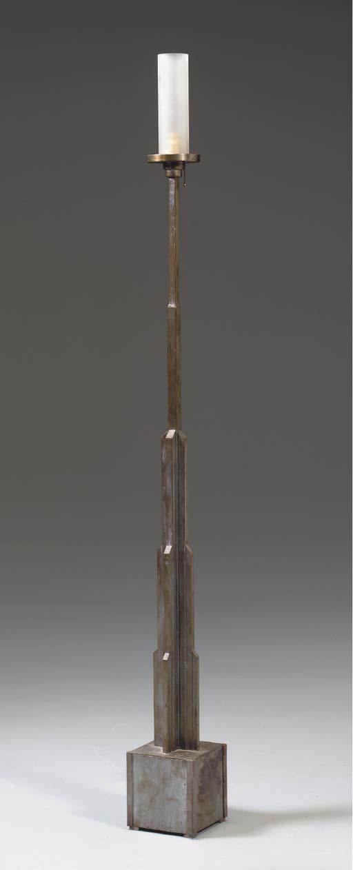 A STEEL 'SKYSCRAPER' FLOOR LAM