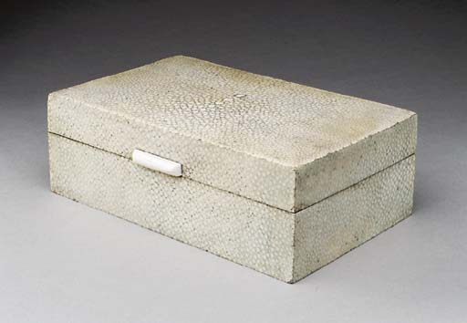 AN IVORY-MOUNTED SHAGREEN-COVE