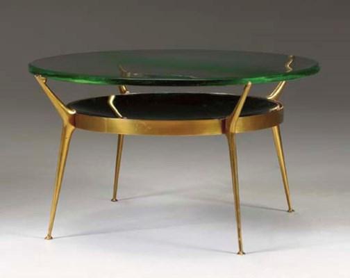 A GILT-METAL LOW TABLE