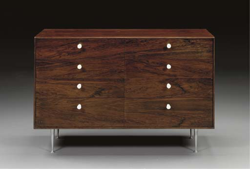 A 'THIN EDGE' ROSEWOOD CHEST O