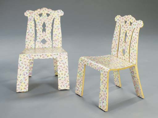 A PAIR OF 'GRANDMOTHER' MOLDED