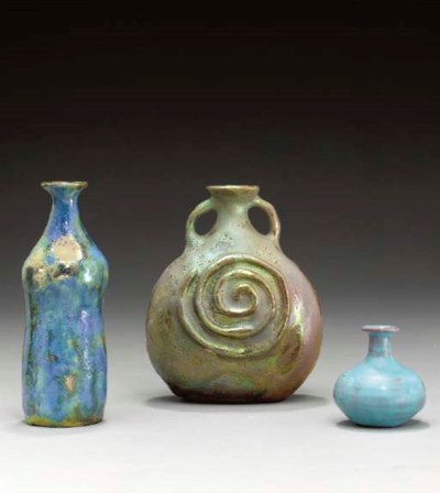 A GROUP OF THREE CERAMIC VESSE