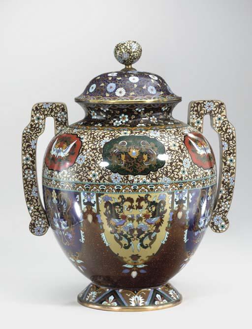 A Large Cloisonne Enamel Incen