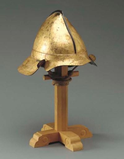A Gold Lacquer Helmet (Momonar