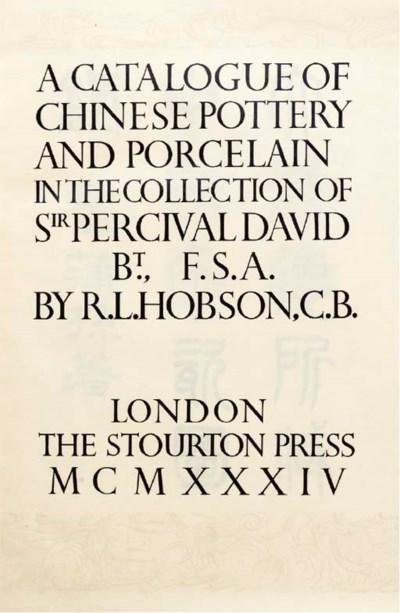 HOBSON, R.L. Catalogue of Chin
