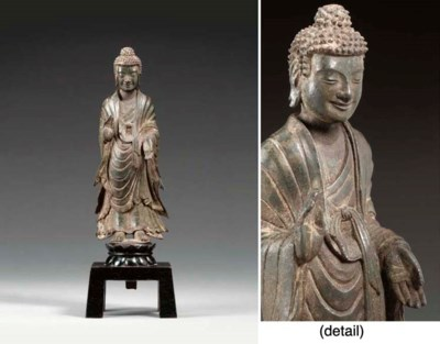 A RARE BRONZE FIGURE OF BUDDHA